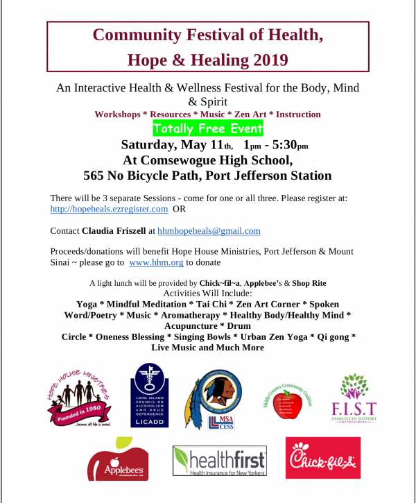 Interfaith Festival of Hope & Healing 2019 or Community